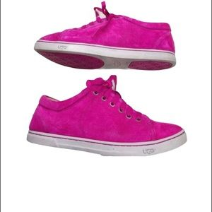 UGG Fuschia  Tomi Suede Lined Water Resistant Shoe